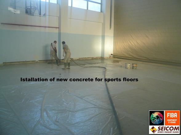 SPORTS PARQUET FLOORS beton and concrete